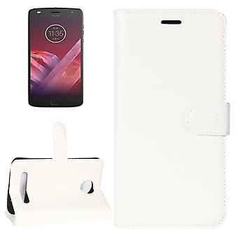 Pocket wallet premium white for Motorola Moto Z2 play protection sleeve case cover pouch new