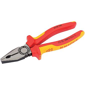 Knipex 31918 180mm VDE Fully Insulated Combination Pliers