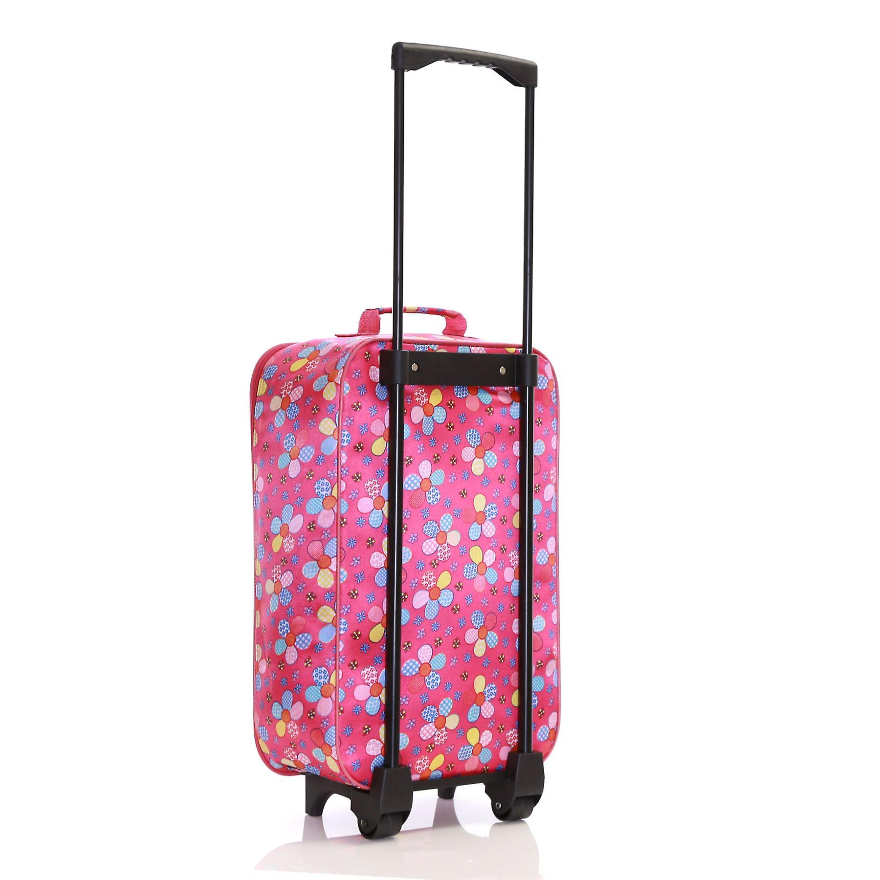 Slimbridge Barcelona Kids Cabin Approved Bag, Pink Flowers