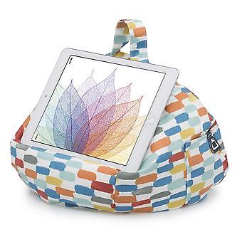 Ipad, tablet & ereader bean bag stand by ibeani - brushstroke orange