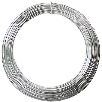 Aluminum Wire 12 Gauge 39' Coil-Silver