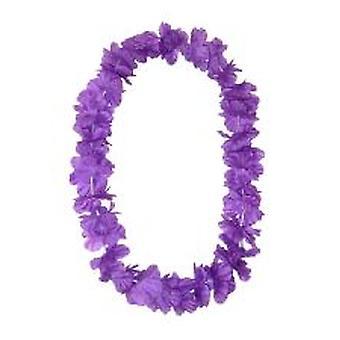 Hawaiische Insel Lei seidig Blume Garland - lila