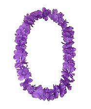 Hawaii-øya Lei silkeaktig blomst Garland - lilla