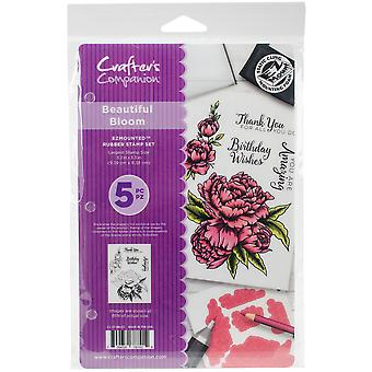Crafter's Companion Ezmounted Stamp Set-Beautiful Bloom
