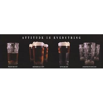 Attitude is Everything - Beer Poster Poster Print
