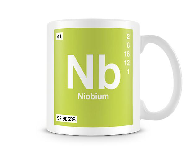 Element Symbol 041 Nb - Niobium Printed Mug