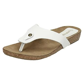 Womens Leather Collection Casual Toe Post Sandals