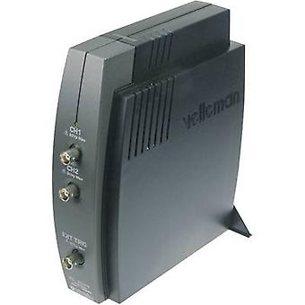 Velleman PCSU1000 USB الذبذبات 60 MHz 50 2-قناة بدل/s 4 رقمي 8 بت kpts التخزين (DSO)، محلل الطيف