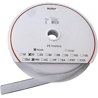 Hook-and-loop tape stick-on Loop pad (L x W) 25000 mm x 25 mm White Fastech HOOK HM PS-A69M 25 m