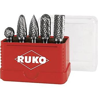 RUKO 116005 5-delige HM-frezen pinnen instellen bal diameter 12 mm Carbide Shank diameter 6 mm