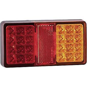 SecoRüt LEDs Trailer tail light Brake light, Reflector , Turn signal, Tail light left , right 12 V, 24 V Clear glass
