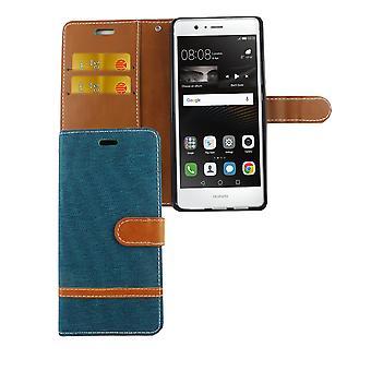 Torba dla Huawei P9 Lite dżinsy telefon komórkowy Etui ochronne etui zielony