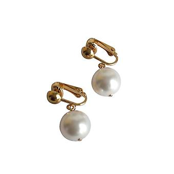 Pearl Earrings Pearl Earrings White Pearl Earrings gold plated