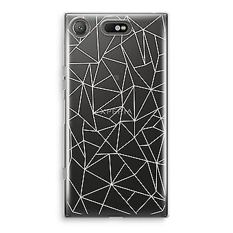 Sony Xperia XZ1 transparente Estuche (suave) - líneas geométricas blanco