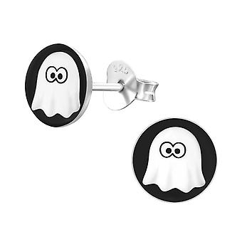 Ghost - 925 Sterling Silver Colourful Ear Studs - W19733x