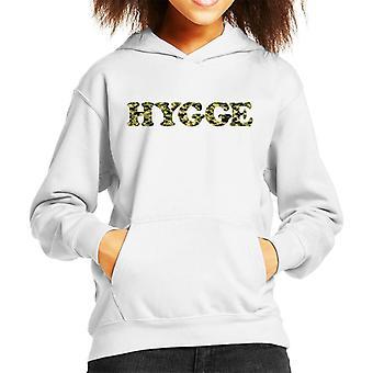 Hygge Camo Text Kid's Hooded Sweatshirt