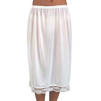 Damen elastische Taille halbe Slip Petticoat mit hübschen Lace Trim 25