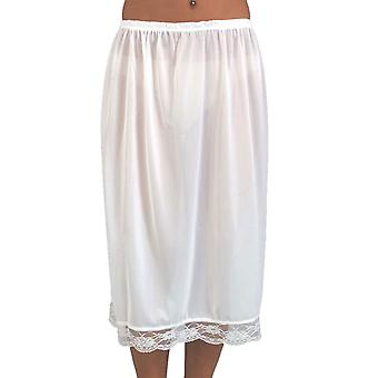 Ladies Elasticated Waist Half Slip Petticoat With Pretty Lace Trim 25