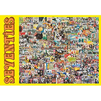 Seventies Memorabilia Collage 500 piece jigsaw puzzle 690mm x 480mm (jg)