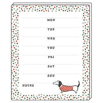 Sausage Dog Weekly Planner Pad
