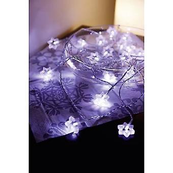 Polarlite LDC-02-004 Holiday lights (motif) Stars Inside EEC: LED (A++ - E) mains-powered 20 LED Cold white Illuminated length: 5.7 m