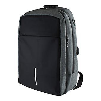 16-дюймовый ноутбук рюкзак с Анти-Вор и USB-порт серый