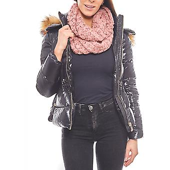 pieces very soft and warm tube scarf women's pink