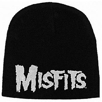 Misfits Logo Black Beanie Hat (rz)