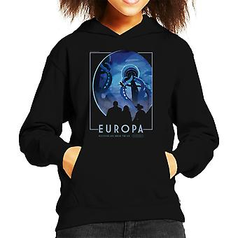 NASA Europa Interplanetary Travel Poster Kid's Hooded Sweatshirt