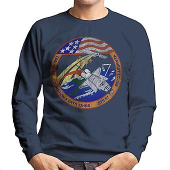 NASA STS 57 Endeavour Mission Badge Distressed Men's Sweatshirt