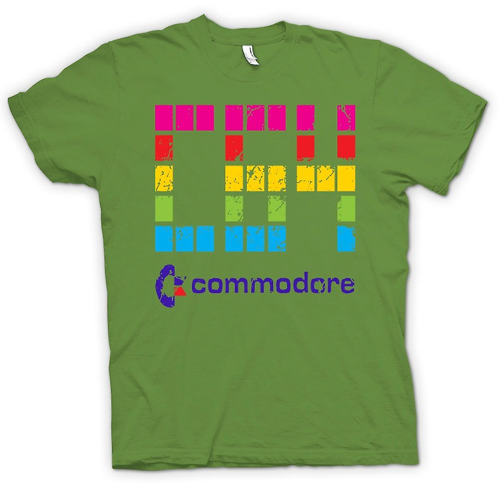 Herren T-Shirt - Commodore C64 - Retro Computerspiele - Lustige