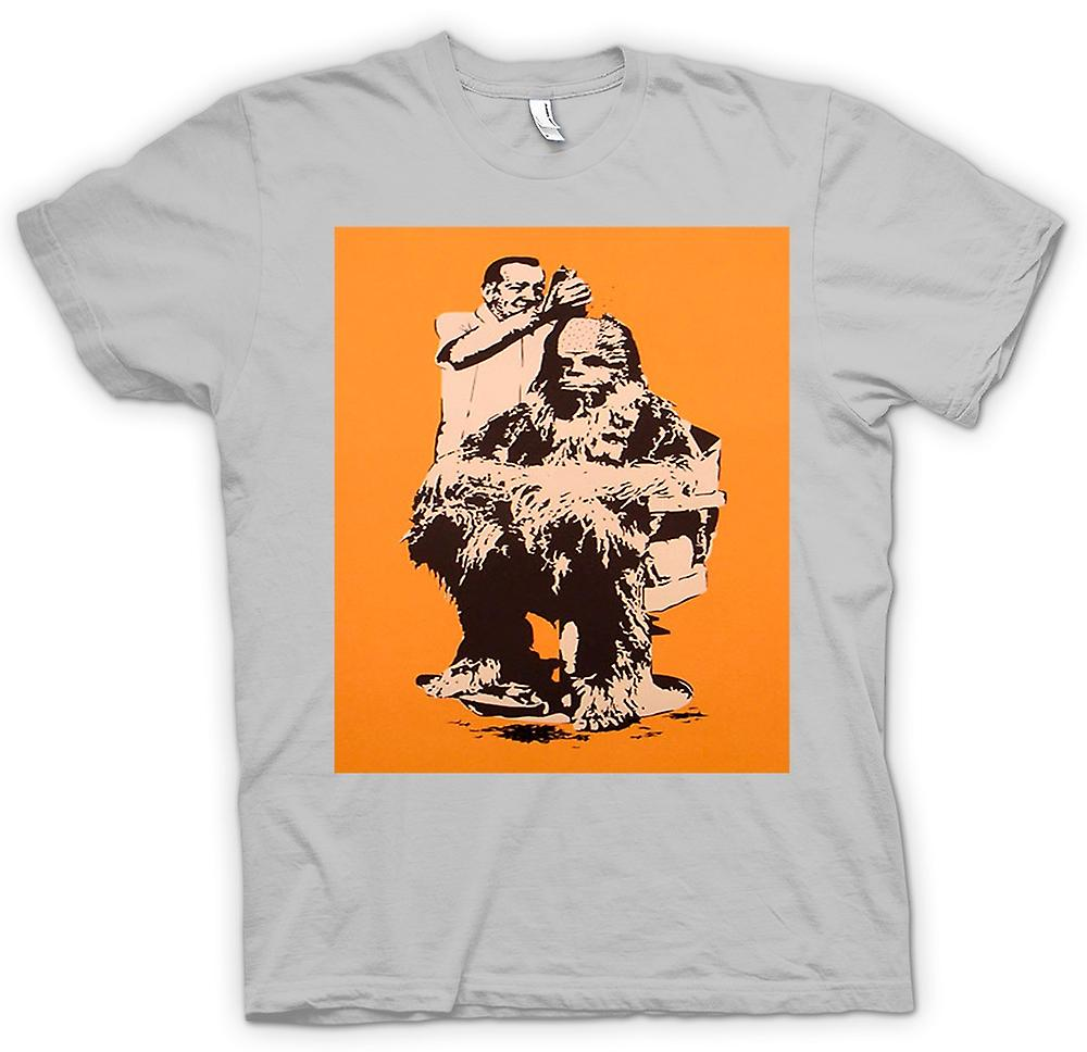 Mens T-shirt - Chewbacca Hair Cut - Star Wars