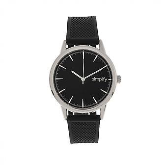 Simplify The 5200 Strap Watch - Silver/Black
