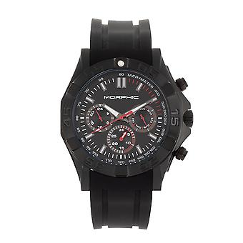 Morphic M75 Series Tachymeter Strap Watch w/Day/Date - Black