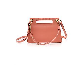 Bolsa de ombro de couro laranja de Givenchy