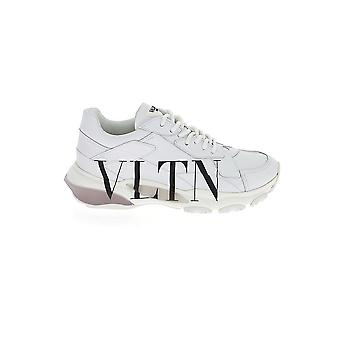 Valentino Garavani White/black Leather Sneakers