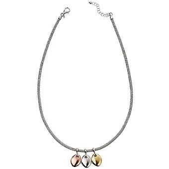Beginnings Multi Disc Mesh Necklace - Silver/Gold/Rose Gold