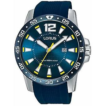 Lorus Mens Blue Rubber Strap Blue Dial RH935FX9 Watch