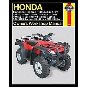 Honda Rancher - Recon and TRX250EX ATVs Owners Workshop Manual by Edi