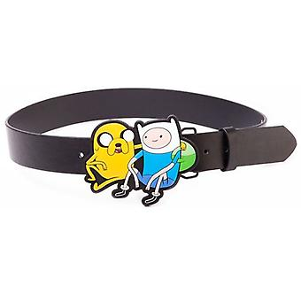 ADVENTURE TIME Black Belt met Jake en Finn 2D gesp, klein (BT0MW8ADV-S)