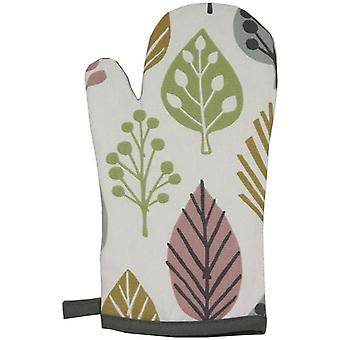 Mcalister textiles magda cotton blush pink oven glove