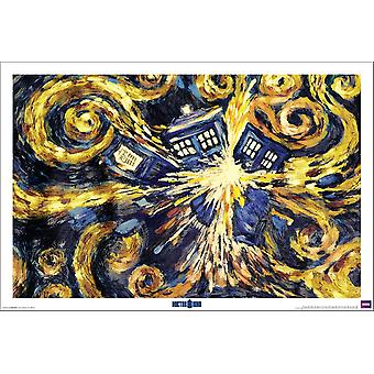 Affisch-Studio B-Dr WHO-exploderande TARDIS Wall Art P5117