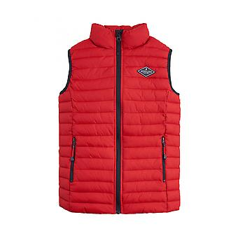 Joules Older Crofton Skinny Quilted Pack Away Gilet - Rouge