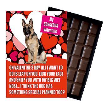Deutscher Schäferhund Geschenk für Valentinstag Geschenke für Hundeliebhaber Boxed Schokolade