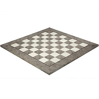 21.7 Inch Gloss Lacquered Ash Burl Deluxe Chess Board