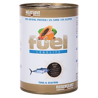 Meatlove Fuel Tuna & Seafood Can Wet Dog Food - 410g