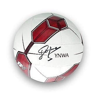 John Barnes Signed Liverpool Football