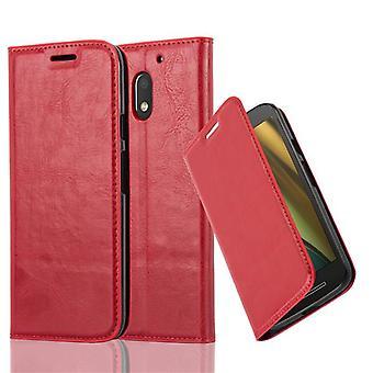 Cadorabo Hülle für Motorola MOTO E3 Case Cover - Handyhülle mit Magnetverschluss, Standfunktion und Kartenfach – Case Cover Schutzhülle Etui Tasche Book Klapp Style