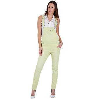 Womens lightweight yellow dungarees