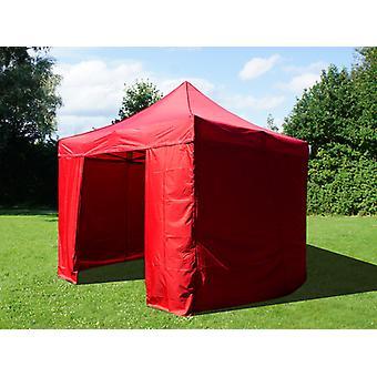 Vouwtent/Easy up tent FleXtents Easy up pavillon Basic v.2, 3x3m Rood, inkl. 4 Zijwanden